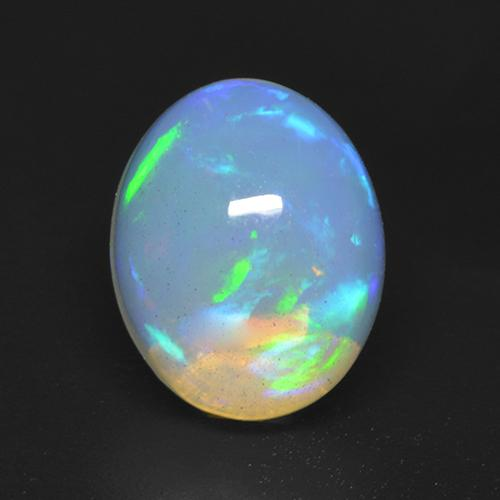2ct Oval Cabochon Multicolor Opal Gem (ID: 533099)