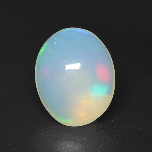 Multicolor Opal Gem - 1.4ct Oval Cabochon (ID: 533100)