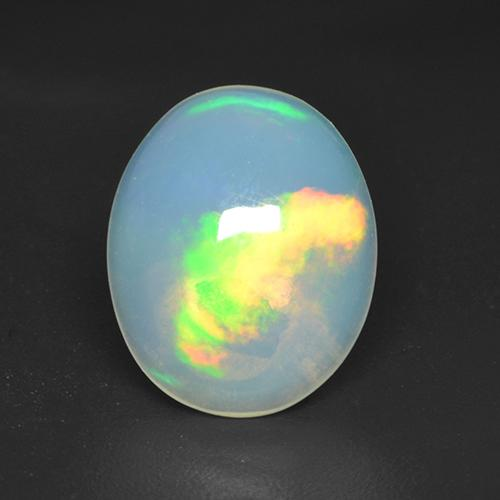 1.4ct Oval Cabochon Multicolor Opal Gem (ID: 533104)
