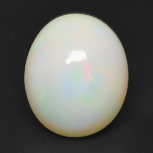 Multicolor Opal Gem - 3.1ct Oval Cabochon (ID: 533741)