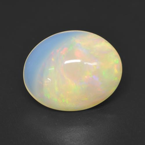 Multicolor Opal Gem - 2.3ct Oval Cabochon (ID: 533987)