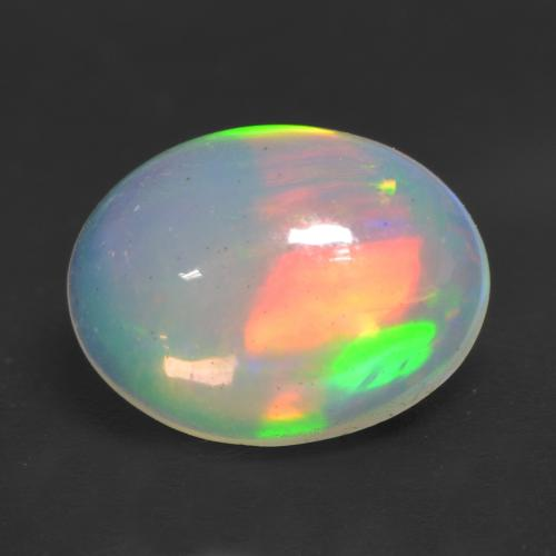 1.3ct Ovale Cabochon Multicolore Opale gemme (ID: 534958)