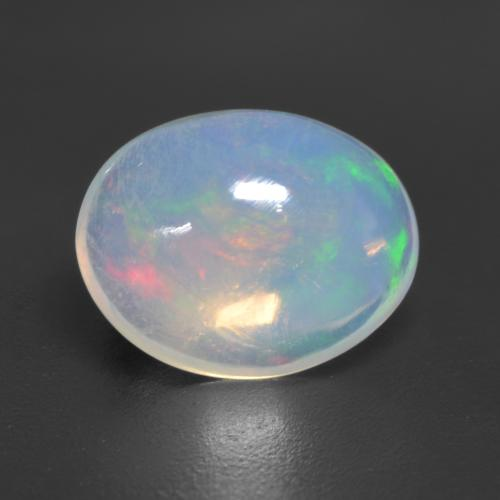 1.5ct Ovale Cabochon Multicolore Opale gemme (ID: 534965)
