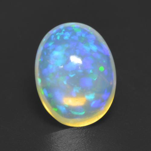 1.6ct Ovale Cabochon Multicolore Opale gemme (ID: 535373)