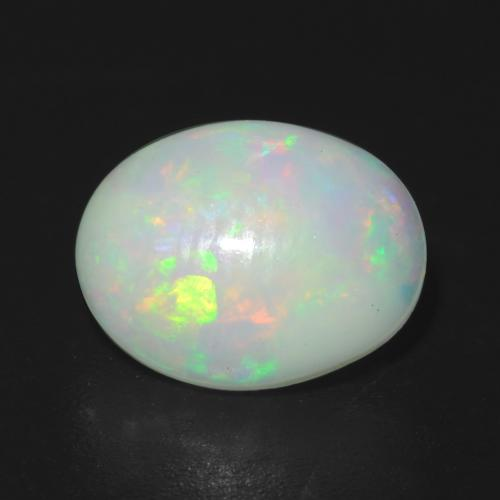 Multicolor Opal Gem - 1.2ct Oval Cabochon (ID: 540604)