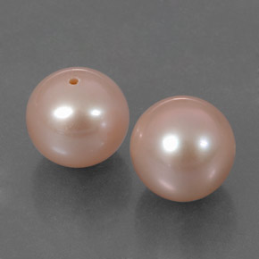 3.2ct Drilled Sphere Light Pink Pearl Gem (ID: 317496)