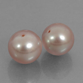 6.77 ct total Natural Pink Pearl