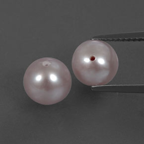 2.8ct Half-Drilled Sphere Silver Pink Pearl Gem (ID: 332018)