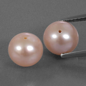 Light Pink Pearl Gem - 3.1ct Drilled Sphere (ID: 334464)
