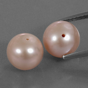 Light Pink Pearl Gem - 3.4ct Drilled Sphere (ID: 334517)