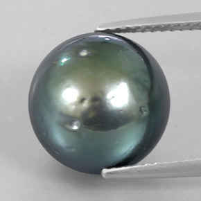 13.95 ct Spherical Silver Pearl Gemstone 12.46 mm  (Product ID: 338207)