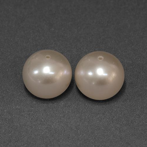 Cream Pink Pearl Gem - 7ct Drilled Sphere (ID: 349663)