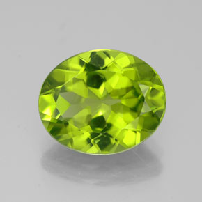 Buy 3.58 ct Lively Green Peridot 11.01 mm x 9.1 mm from GemSelect (Product ID: 320230)