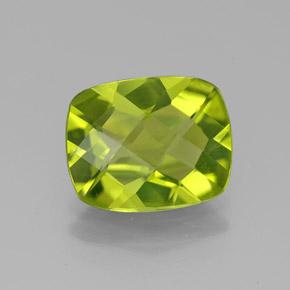 Lively Yellowish Green Peridot Gem - 2.7ct Cushion Checkerboard (ID: 332283)