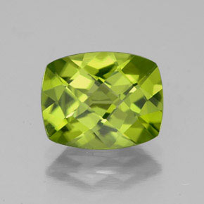 thumb image of 2.6ct Cushion Checkerboard Lively Green Peridot (ID: 335753)
