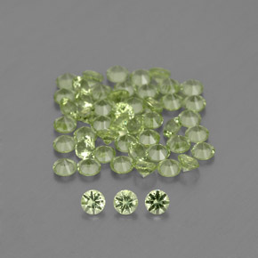 Lively Green Peridot Gem - 0ct Diamond-Cut (ID: 341729)