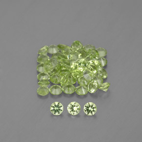 Lively Green Peridot Gem - 0ct Diamond-Cut (ID: 341908)