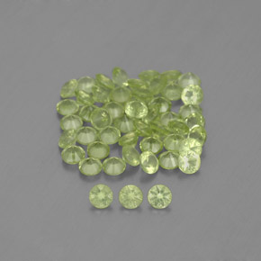 Lively Green Peridot Gem - 0ct Diamond-Cut (ID: 343248)