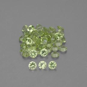 Lively Green Peridot Gem - 0ct Diamond-Cut (ID: 343802)