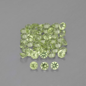 Pear Green Peridoto Gema - 0ct Corte Diamante (ID: 344033)