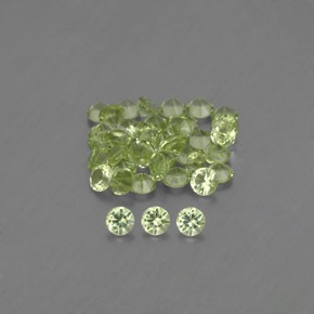 Lively Green Peridot Gem - 0ct Diamond-Cut (ID: 344287)