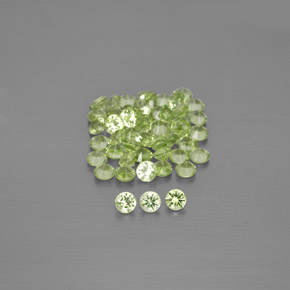 Lively Green Peridot Gem - 0ct Diamond-Cut (ID: 344525)