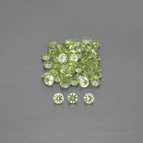 Lively Green Peridot Gem - 0ct Diamond-Cut (ID: 344526)