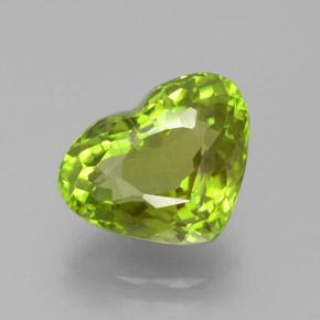 5.7ct Heart Facet Lively Green Peridot Gem (ID: 379027)