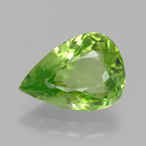 5.16 ct Pear Facet Lively Green Peridot Gemstone 13.75 mm x 9.8 mm (Product ID: 382370)