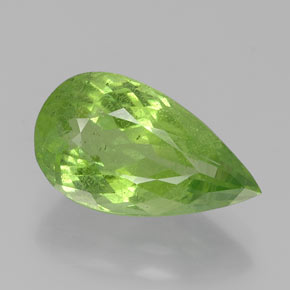 5.8ct Pear Facet Lively Green Peridot Gem (ID: 382373)