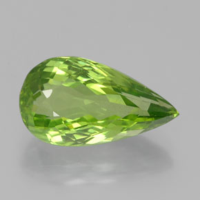 5.42 ct Pear Facet Lively Green Peridot Gemstone 15.12 mm x 8.4 mm (Product ID: 382374)