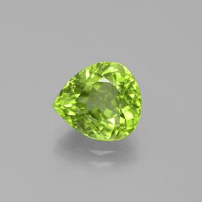 3.7ct Pear Facet Lively Green Peridot Gem (ID: 382486)