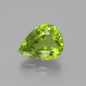 5.8ct Pear Facet Lively Green Peridot Gem (ID: 382487)
