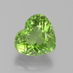 Medium Green Peridoto Gema - 4.2ct Forma de corazón (ID: 385902)
