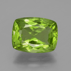 Lively Green Peridot Gem - 4.6ct Cushion-Cut (ID: 398234)