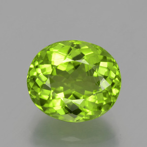 Medium-Light Green Peridoto Gema - 5.4ct Corte Portuguesa en Forma Óvalo (ID: 398334)