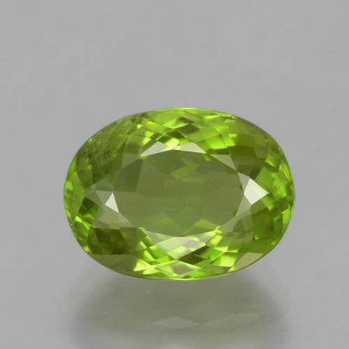 Medium Green Peridot Gem - 5ct Oval Portuguese-Cut (ID: 398338)