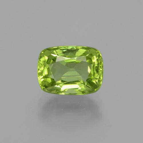 Medium Green Peridot Gem - 2.5ct Cushion-Cut (ID: 398352)