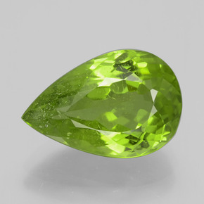 6.65 ct Pear Facet Lively Green Peridot Gemstone 14.72 mm x 9.8 mm (Product ID: 399197)