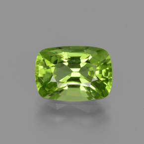 Lively Green Peridot Gem - 2.4ct Cushion-Cut (ID: 415616)