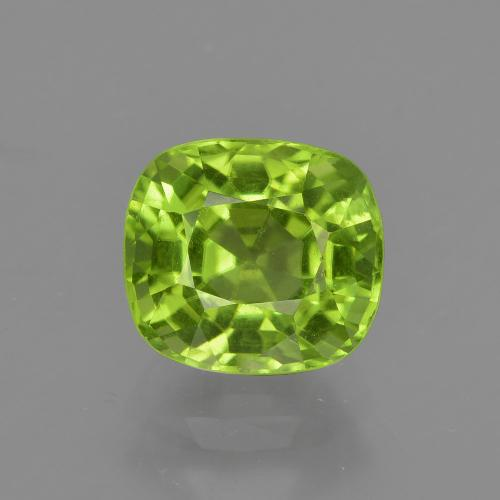 1.99 ct Cushion-Cut Lively Green Peridot Gemstone 7.54 mm x 6.8 mm (Product ID: 415656)
