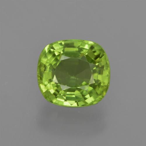 Medium Green Peridot Gem - 2.2ct Cushion-Cut (ID: 415663)