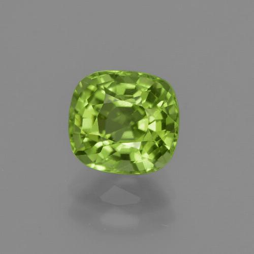 2ct Cushion-Cut Lively Green Peridot Gem (ID: 415707)
