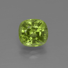 Lively Green Peridot Gem - 2.1ct Cushion-Cut (ID: 415822)