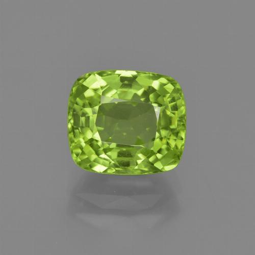 Lively Green Peridot Gem - 2.6ct Cushion-Cut (ID: 415922)
