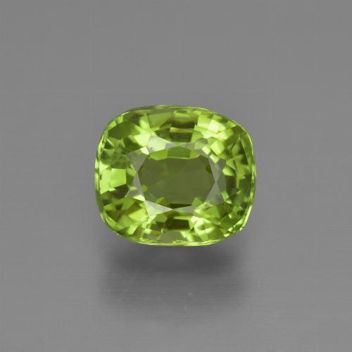 Medium Green Peridot Gem - 2.2ct Cushion-Cut (ID: 425696)