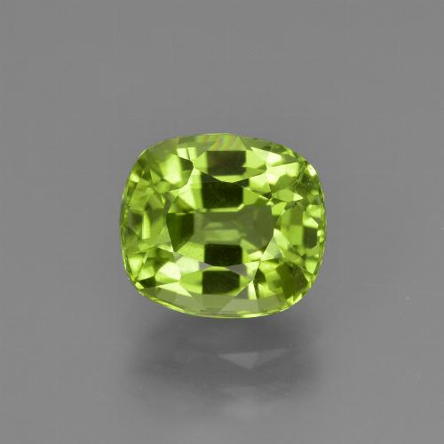 Lively Green Peridot Gem - 2.5ct Cushion-Cut (ID: 425699)