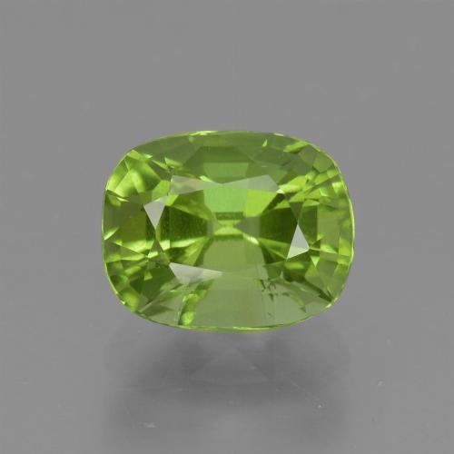 Lively Green Peridot Gem - 1.9ct Cushion-Cut (ID: 425831)