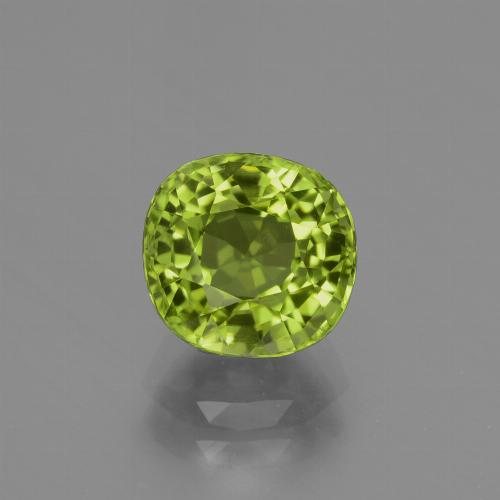 2.1ct Cushion-Cut Lively Green Peridot Gem (ID: 426023)