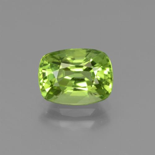 Lively Green Peridot Gem - 2.1ct Cushion-Cut (ID: 437683)